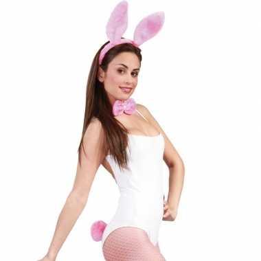 Carnavalskleding roze bunny/konijnen verkleedsetje dames arnhem
