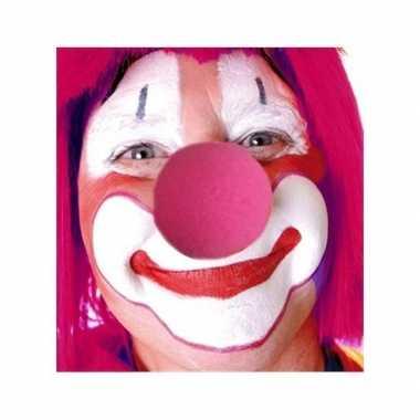 Carnavalskleding roze clowns neus arnhem