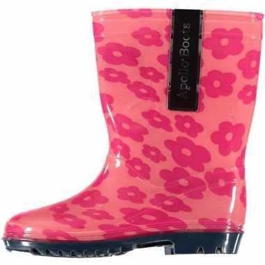 Carnavalskleding  Roze kinder regenlaarzen bloemen Arnhem
