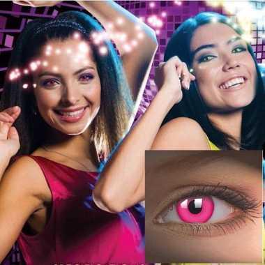 Carnavalskleding  Roze lenzen UV Arnhem