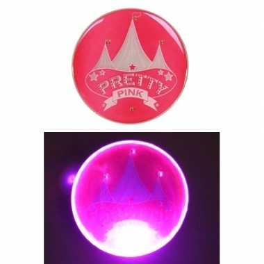 Carnavalskleding roze pretty pink circus button licht arnhem