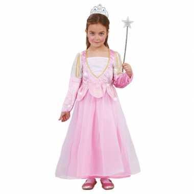 Carnavalskleding roze prinsessenjurk pailletten arnhem