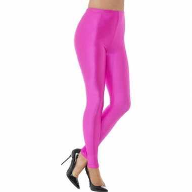 Carnavalskleding roze spandex verkleed legging dames arnhem