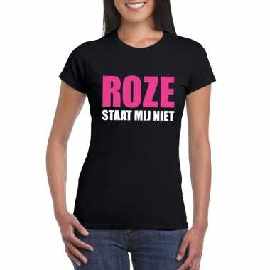 Carnavalskleding roze staat mij niet toppers t shirt zwart dames arnh