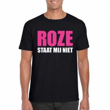 Carnavalskleding roze staat mij niet toppers t shirt zwart heren arnh
