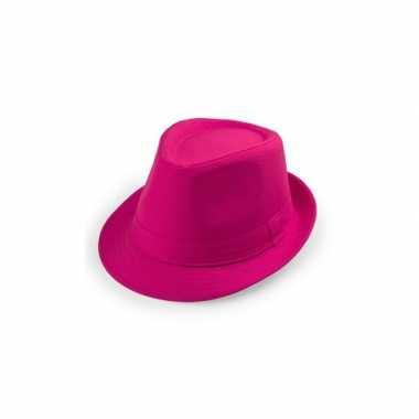 Carnavalskleding roze trilby hoedje arnhem