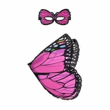 Carnavalskleding roze vlinder verkleedset meisjes arnhem