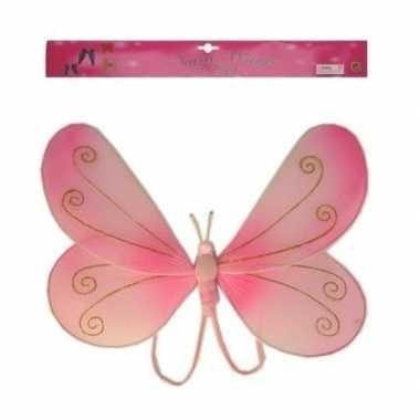 Carnavalskleding roze vlinder vleugels kinderen arnhem