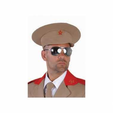 Carnavalskleding  Russische generaal pet Sovjet logo Arnhem