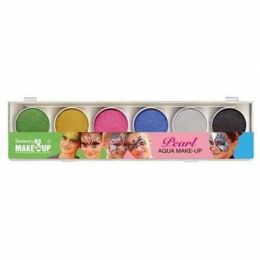Carnavalskleding schmink set glitter make up kleuren arnhem