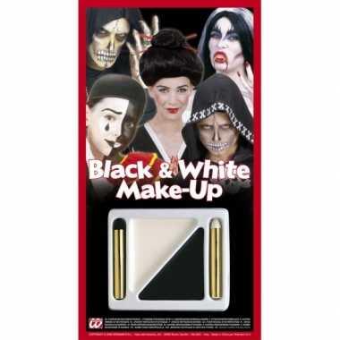Carnavalskleding schmink setje zwart/wit arnhem