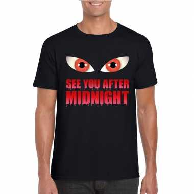 Carnavalskleding see you after midnight halloween vampier t shirt zwa