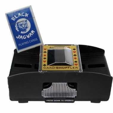 Carnavalskleding set kaartenschudmachine batterijen / speelkaarten ar