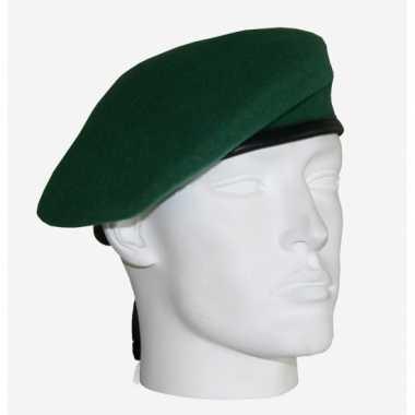 Carnavalskleding  Soldaten baret commando groen Arnhem