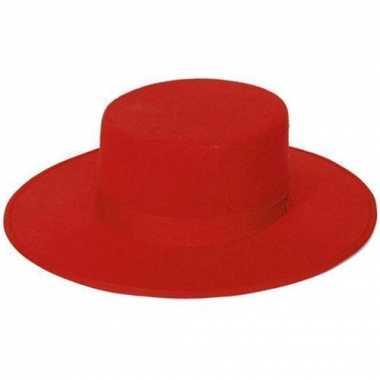 Carnavalskleding spaanse hoed rood volwassenen arnhem