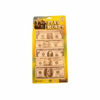 Carnavalskleding speelgoed geld nep dollars stuks arnhem