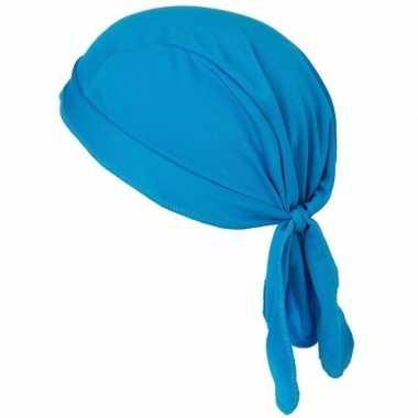 Carnavalskleding sport bandana volwassen blauw arnhem