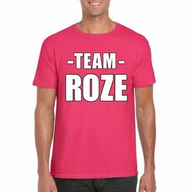 Carnavalskleding sportdag team roze shirt heren arnhem