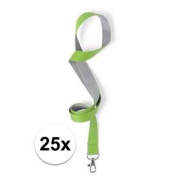 Carnavalskleding stuks groene/grijze keycords arnhem