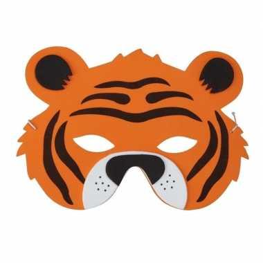 Carnavalskleding tijger foam masker kinderen arnhem