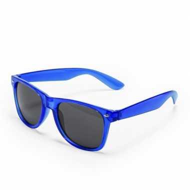 Carnavalskleding toppers blauwe verkleed accessoire zonnebril volwass