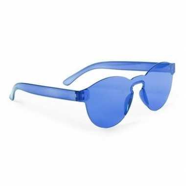 Carnavalskleding toppers blauwe verkleed zonnebril volwassenen arnhem