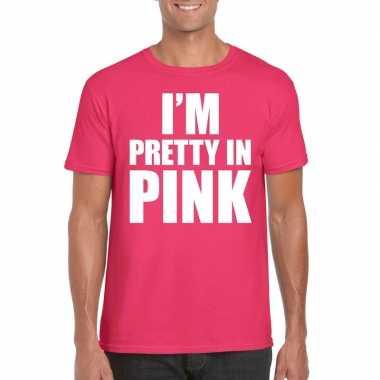 Carnavalskleding toppers i am pretty pink shirt roze heren arnhem