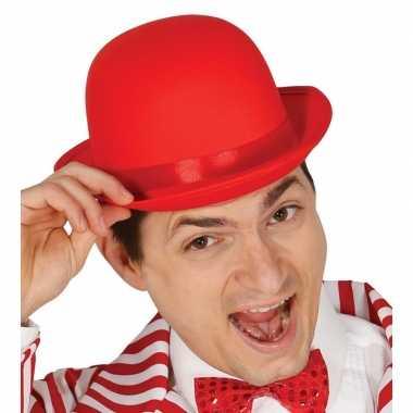 Carnavalskleding toppers rode bolhoed/verkleed hoed volwassenen arnhe