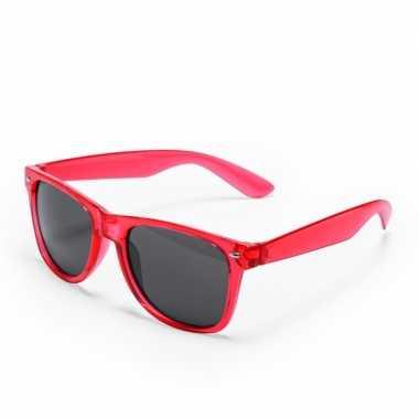 Carnavalskleding toppers rode verkleed accessoire zonnebril volwassen