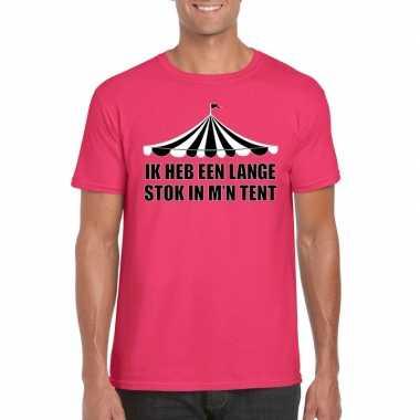 Carnavalskleding toppers t shirt roze lange stok heren arnhem