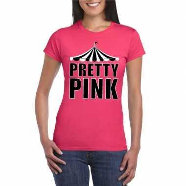 Carnavalskleding toppers t shirt roze pretty pink dames arnhem
