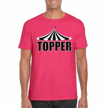 Carnavalskleding toppers t shirt roze topper heren arnhem