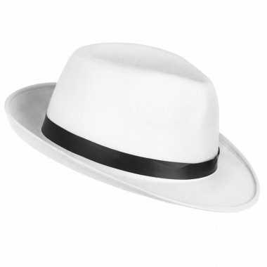 Carnavalskleding toppers witte maffia gangster hoed volwassenen arnhe