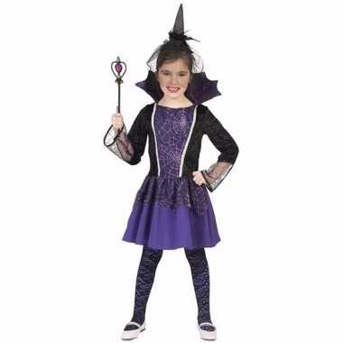 Carnavalskleding vampier verkleedjurk paars meisjes arnhem