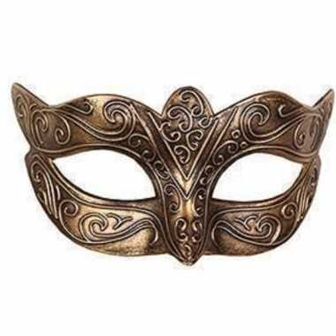 Carnavalskleding venetiaans goud kunststof oogmasker arnhem