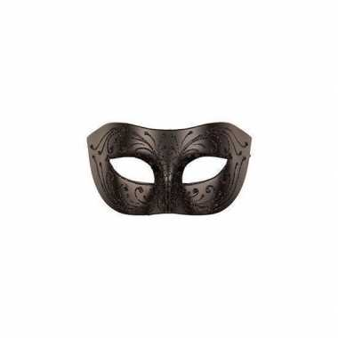 Carnavalskleding venetiaans oogmasker zwart volwassenen arnhem