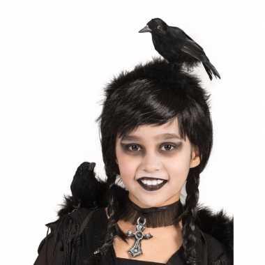 Carnavalskleding verkleed diadeem zwarte kraai arnhem