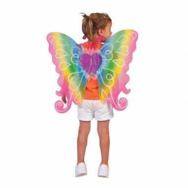 Carnavalskleding verkleed vlinder vleugels kinderen regenboog arnhem