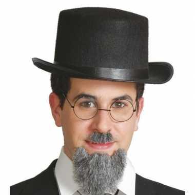 Carnavalskleding vilten zwarte hoge hoed volwassenen arnhem