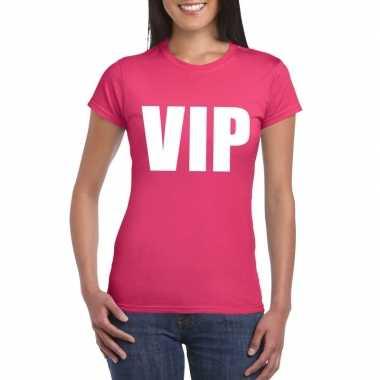 Carnavalskleding vip tekst t shirt roze dames arnhem