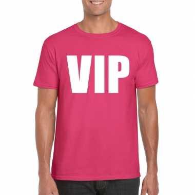 Carnavalskleding vip tekst t shirt roze heren arnhem