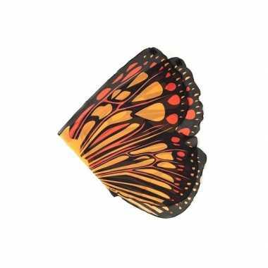Carnavalskleding  Vlinder vleugels oranje kids Arnhem