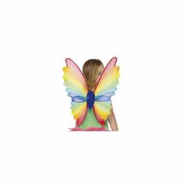 Carnavalskleding  Vlinder vleugels regenboog Arnhem