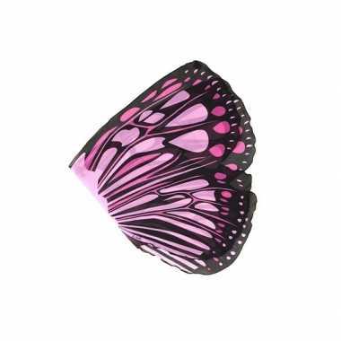 Carnavalskleding  Vlinder vleugels roze kids Arnhem