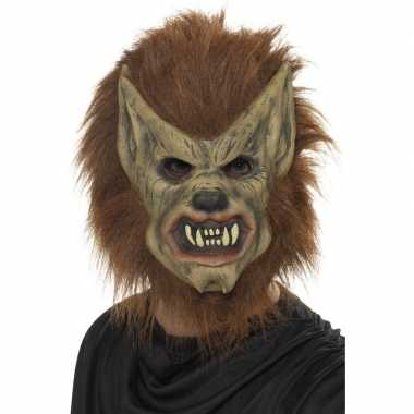 Carnavalskleding weerwolf masker latex arnhem