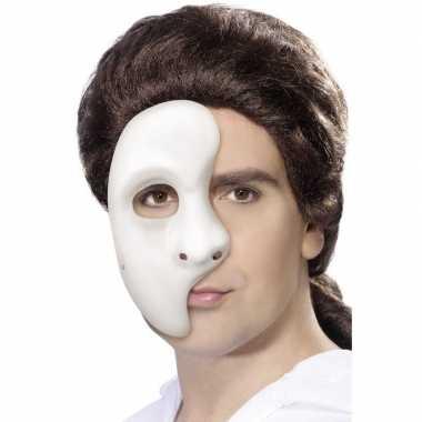 Carnavalskleding wit phantom of the opera masker heren arnhem
