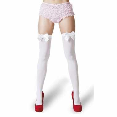 Carnavalskleding witte kousen witte strikjes dames arnhem