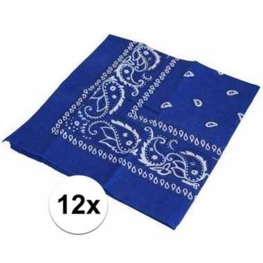 Carnavalskleding x blauwe boeren zakdoeken arnhem