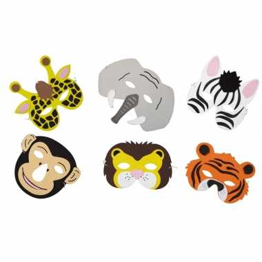 Carnavalskleding x dieren foam maskers kinderen arnhem