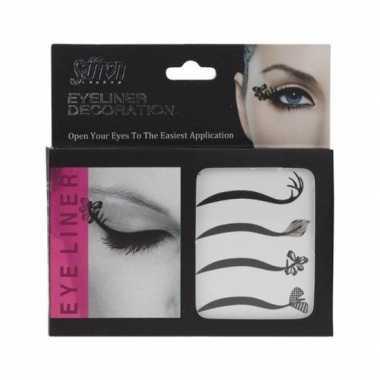 Carnavalskleding x eyeliner decoratie stickers arnhem